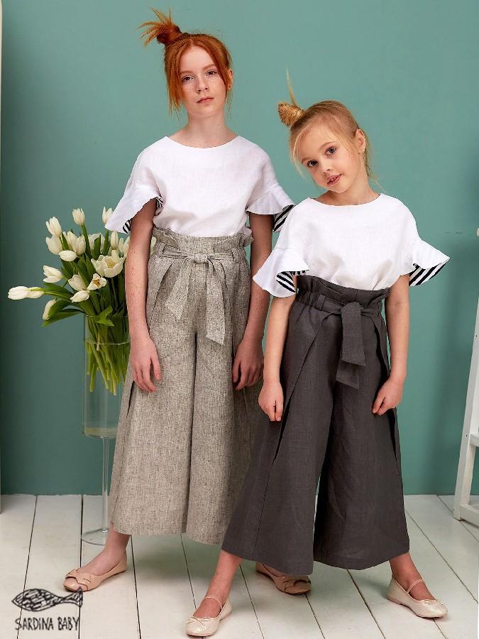 брюки льняные бриз для девочки